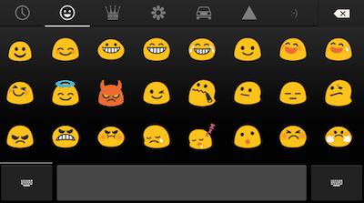 Alguns celulares com sistema operacional Android têm esses emojis