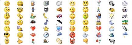 Emojis do MSN, uma das lembranças mais antigas desses ícones para as pessoas que têm entre 20 e 30 anos