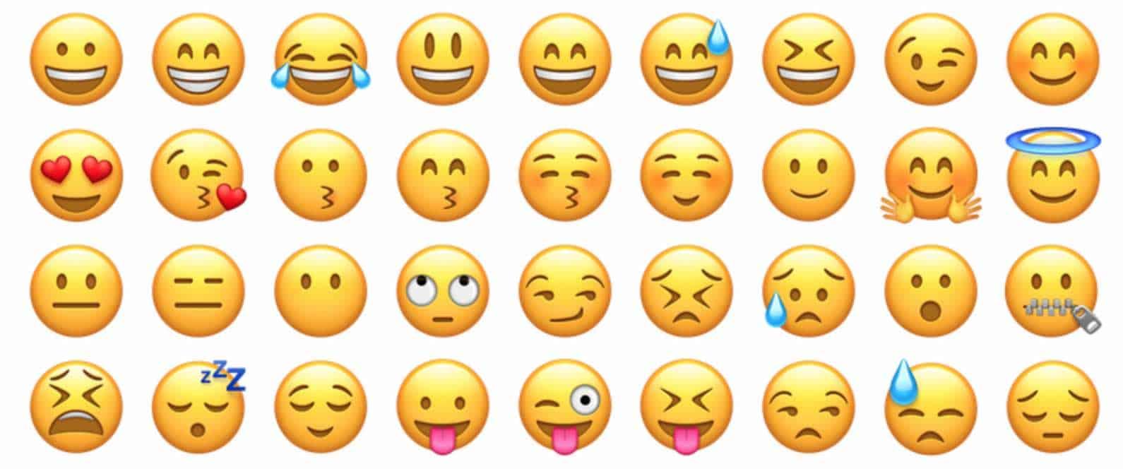 Os emojis do WhatsApp e dos celulares com sistema operacional iOS, possivelmente os mais famosos