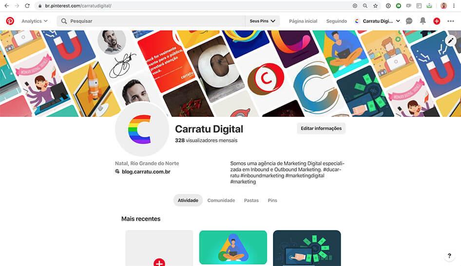 Pinterest Carratu Digital
